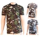 Mens Big King Army Colour Camo Combat Style Camouflage Short Sleeve T Shirt Top