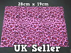 LARGE FURRY FABRIC PINK ANIMAL PRINT CRAFT MOBILE SKIN DECAL STICKER 28cmx19cm