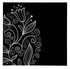 NEW MODERN STYLISH BLACK & WHITE GRAPHIC TULIP 1/2/3 DESIGN GLASS PRINT