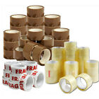 72 X 48MM BROWN CLEAR FRAGILE PACKING TAPE PARCEL PACKAGING STATIONARY BUFF