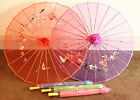 Chinese / Japanese Ladies  Translucent Silky Parasol/74cm Diameter,Many Colours