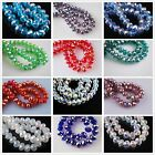 100pcs AB Faceted Crystal Glass Jewelry Design Finding Rondelle Loose Beads 6mm