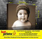 Your Picture Image Photo On Personalised Box Canvas Size 32x22 inch / 22x32 inch