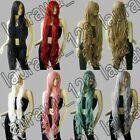 40 in. Long Bangs All Color Heat Resistant Layer Wavy Cosplay Wig Free Shipping