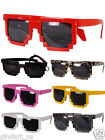 Unisex Men Retro Trendy Pixel 8 Bit Glasses Pixelated Style Square Sunglasses
