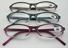 (R186A)3 Pairs High Quality Plastic Frame Reading Glasses/+1+1.5+2+2.5+3+3.5+4