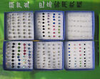 20 Pairs kinds of Color Crystal Hypo Allergenic Plastic Earrings Stud / Unisex