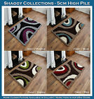 SMALL - LARGE THICK 5CM PILE BROWN BEIGE IVORY LIME GREEN RED BLUE SHAGGY RUG