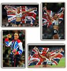 Jessica Ennis London 2012 GOLD Fridge Magnet Chose from 5 Images FREE POSTAGE