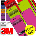 3M Premium Quality Decal Vinyl Sticker Skin Kit For iPhone 4 & 4S - Solid Colour