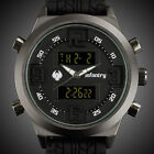 INFANTRY Police Mens LCD Digital Sport Quartz Army Watch Black Rubber Waterproof