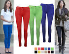 Ladies Womens Coloured Jeans Jeggings Leggings Skinny Fit Stretch Trouser Bright