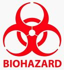 "2"" - 24"" BIOHAZARD WARNING Decal Vinyl Sticker Logo  Label Pick SIZE  COLOR"