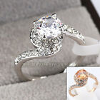 B1-R627 Fashion Solitaire Engagement Ring 18KGP use Swarovski Crystal