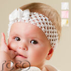 Baby Girls White Pink Cream Party Flowergirl Headband with Rose