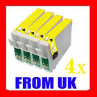 4 YELLOW COMPATIBLE INK FOR EPSON STYLUS PRINTER