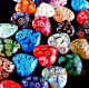Free ship, colorful Shining Millefiori Glass Heart  Beads,6mm,8mm,10mm,12mm