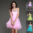 Short Halter New sexy Formal Prom Party Ball Homecoming Gown Women Dress Pink