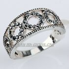 A1-R273 Fashion Bubble Vintage Style Band Ring 18KGP use Swarovski Crystal