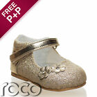 Girls Gold Shoes, Baby Shoes, Flower Girl Shoes, Christening Shoes, Kids Shoes