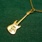 Solid 9ct Gold Fender Electric Jazz or Precision Bass Guitar Pendant