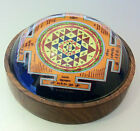 SRI SHRI YANTRAM SHREE YANTRA ROUND WOODEN BASE WITH GLASS TOP FULLY ENERGISED