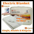 Electric Blanket Single Double King Size Washable  Heated Under Over Fleece Bed