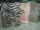 5,10 or 15 LARGE ANIMAL ZEBRA FLOWER PRINT GIFT PARTY CARRIER BAGS 40cmx30x10cm