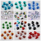 12 Charms Glass Crystal Heart Faceted Loose Pendant Spacer Finding Beads 14mm
