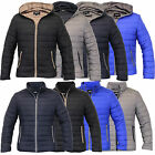 Mens Jacket Soul Star Coat Hoodie Padded Hoody Zip Cotton Winter Designer