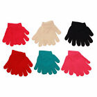 12 x Kids Children Boy Girl Plain Winter Warm Gloves