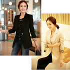 New Hit Women Luxury Fashion Style Jacket Leopard Sleeve 1 Button Suit Coat