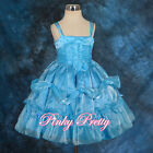 Beaded Ruffle Dress Wedding Flower Girl Bridesmaid Party Formal Age 2y-6y FG203