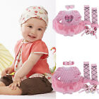Girls Baby Clothes 0-24M Top+Pants+Headband 3 Piece Cotton Outfit Set Costume