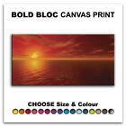 Stunning SEASCAPE SUNSET  Canvas Art Print Box Framed Picture Wall Hanging BBD