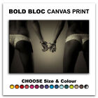 Sexy Handcuff NUDES EROTIC  Canvas Art Print Box Framed Picture Wall Hanging BBD