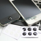 6 x Home Button Sticker For Apple iPhone 4S 4G iPad 2 3 iPod Touch White/Black