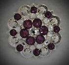 Berry Concho ~ Handcrafted with Purple and Clear  Swarovski Elements
