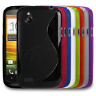 Stylish Gel S-Wave Slim Rubber Case Cover Skin Fits HTC Desire X Mobile Phone