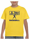 Kids Eat Sleep Baseball T Shirt  with Baseball Cap Bat and Ball Boys or Girls