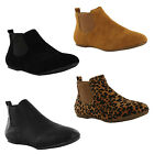 New Ladies Flat Twin Gusset Classic Pixie Chelsea Ankle Boots Size 3 4 5 6 7 8