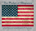 American Flag Pledge of Allegiance Patriotic Gray Adult T-shirt