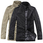 Men Military Outerwear Jacket Coat COOL Parka Cotton Padded Black/Khaki XS-L