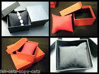 1,5,10 BLACK RED WATCH BRACELET JEWELLERY NECKLACE GIFT BOXES PADDED INSERT UK