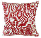 AL185a Red Zebra Pattern Cotton Canvas Cushion Cover/Pillow Case *Custom Size*
