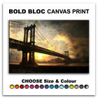 Bridge Abstract CITY  Canvas Art Print Box Framed Picture Wall Hanging BBD