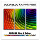 Rainbow Design ABSTRACT  Canvas Art Print Box Framed Picture Wall Hanging BBD