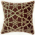 UL95a Beige Snowflake Brown Velvet Style Cushion Cover/Pillow Case Custom Size