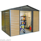 8x6 Metal Shed Brown Cladding Yardmaster Brand New Steel Sheds 8' x 6' Garden