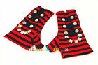 LIVING DEAD SOULS. CLEARENCE PUNK EMO GLOVES IN RED GL060  SALE....MOMOKAMIYA